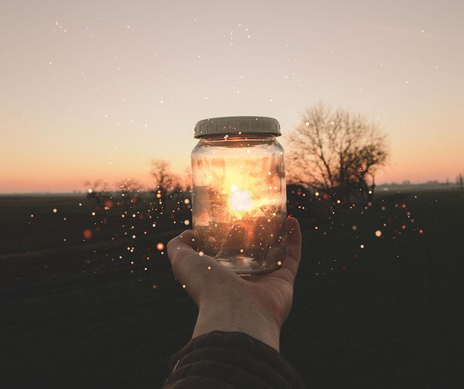 light in jar